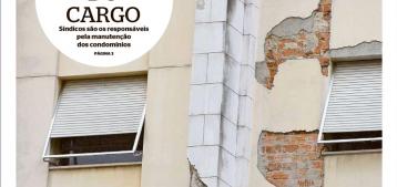 Foto de capa da matéria do jornal Extra com uma fachada de um condomínio danificada para a pauta do ''De olho na manutenção e nas obrigatoriedades do condomínio'' Blog da Estasa.