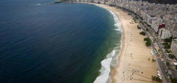 """Foto da orla das praias da Zona Sul para a pauta: """"Cuidados na locação de apartamentos por aplicativos"""" do Blog da Estasa."""