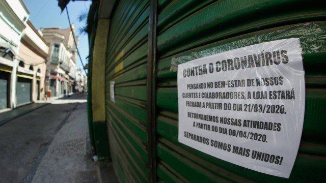"""Foto de um estabelecimento comercial fechado para a pauta """"Coronavírus: inquilinos negociam o pagamento de aluguéis"""" do Blog da Estasa"""