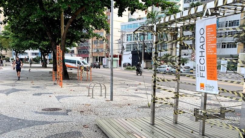 """Foto da Orla de Niterói durante lockdown para a pauta: """"[Coronavírus] Comunicado sobre o lockdown em Niterói"""" para o Blog da Estasa."""