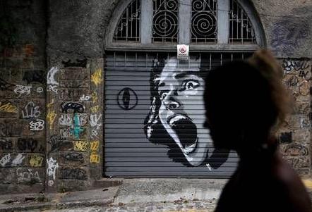 """Foto de um grafiti para a pauta """"Como combater a violência doméstica em condomínios"""" para o blog da Estasa"""
